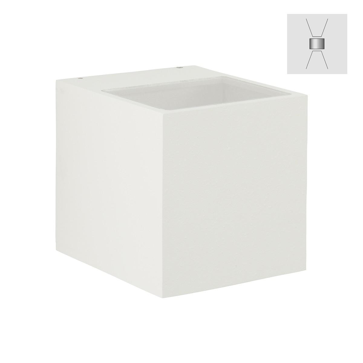 Albert 2417 Wandstrahler, breit/breit, weiß