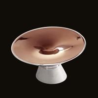 Kundalini Shen Tischleuchte, Glas Bronze metallisiert
