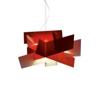 Big Bang LED Sospensione, rosso (rot), dimmbar