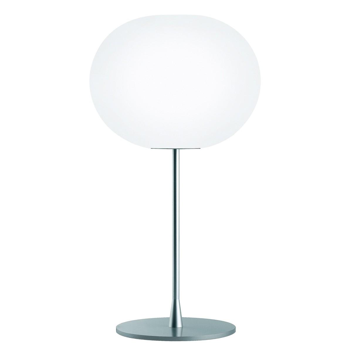 Flos Glo-Ball T Tischleuchte, T2, Höhe: 79 cm, Silber matt