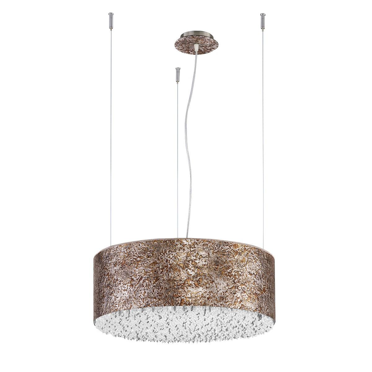 B-Leuchten Vintage LED-Pendelleuchte mit Farbwechsler, Ø: 50 cm, Rost