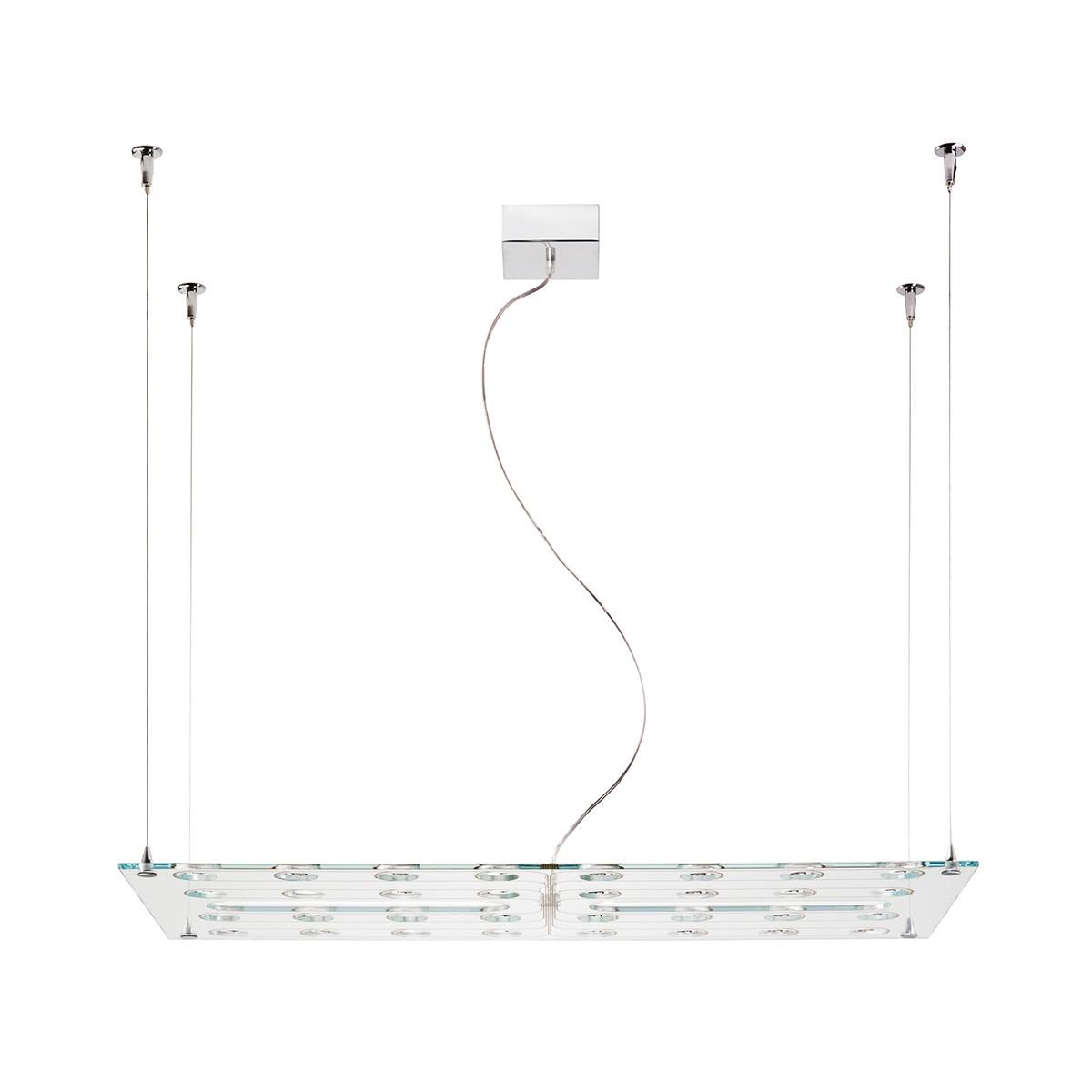 Fabbian Pulse Pendelleuchte, Glas, Breite: 50 cm