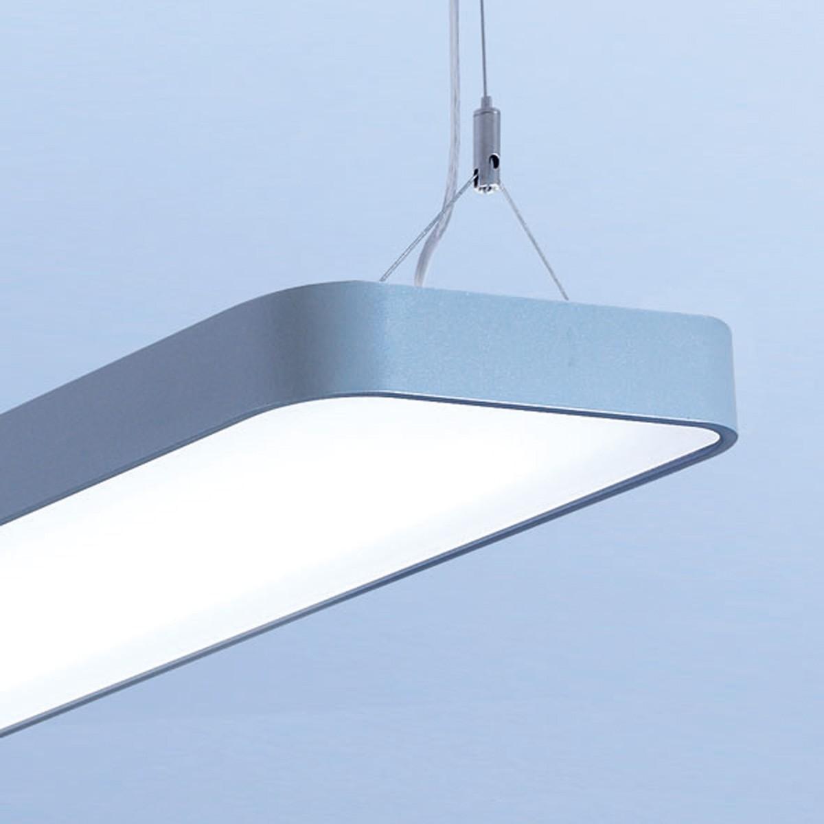Lightnet Caleo-P1 Pendelleuchte, Länge: 120 cm, Silber matt