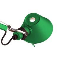 Tolomeo Micro Tavolo Halo mit Schraubbefestigung, grün