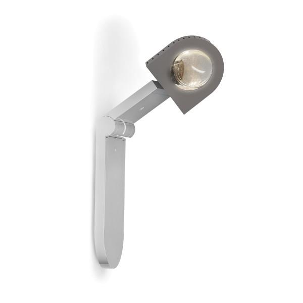 Top Light Light Finger Wand- / Deckenleuchte, Chrom matt, mit Linse klar