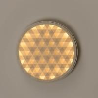 Milan, Loom LED Wandleuchte, Ø: 61,4 cm, Holz / nerzfarben