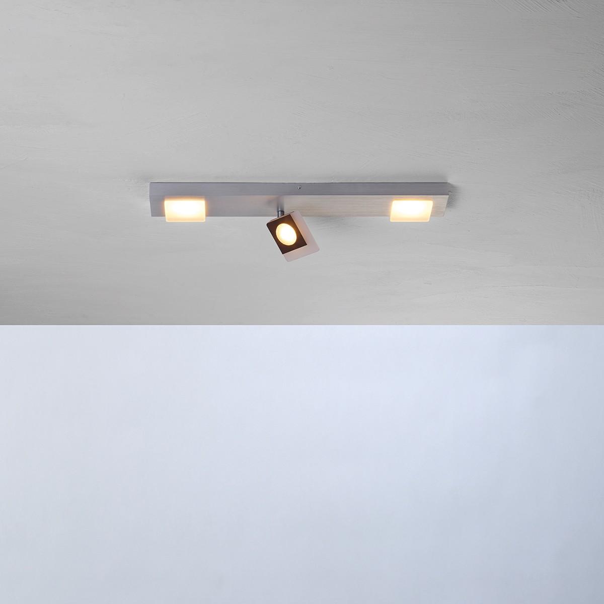 Bopp Session LED Deckenleuchte, 3-flg., Aluminium geschliffen