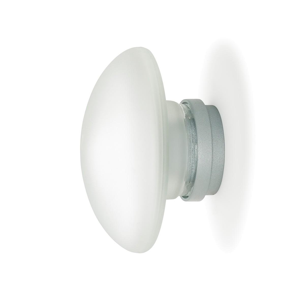 Fontana Arte Sillaba LED Wand- / Deckenleuchte IP40, Ø: 14 cm, Glas sandgestrahlt