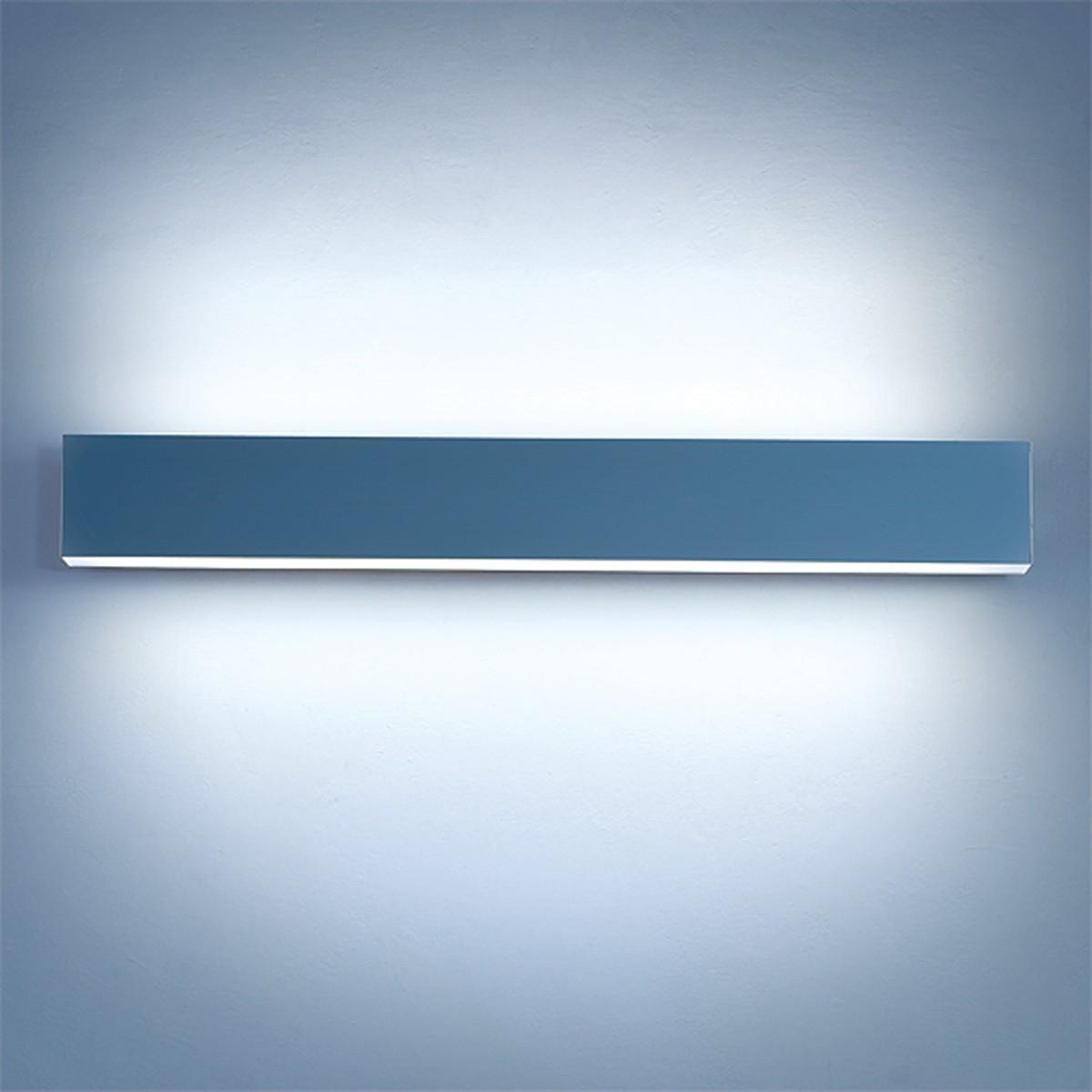 Lightnet Matric-W4 Wandleuchte, Opal, Länge: 60 cm, Aluminium natureloxiert