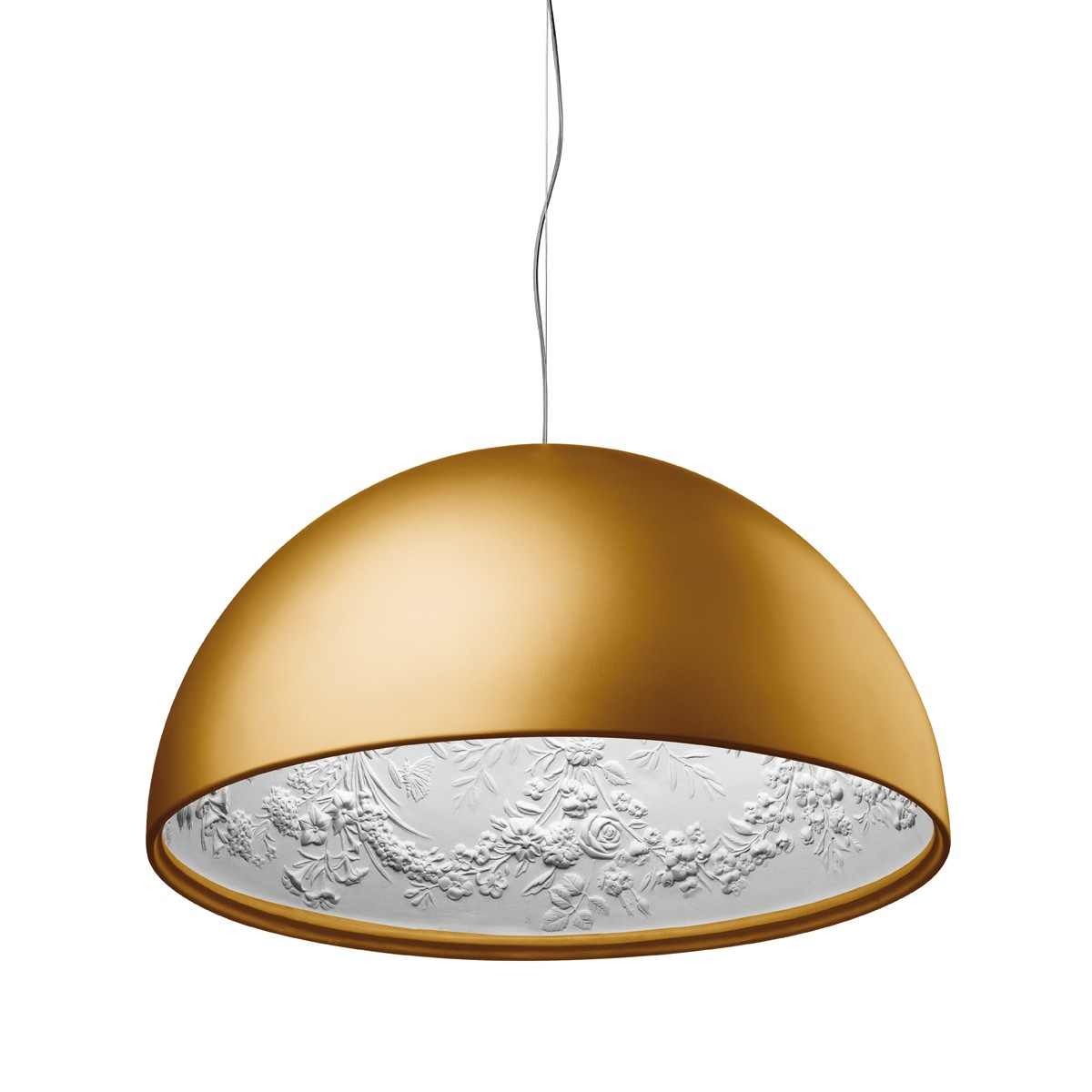 Flos Skygarden Eco Pendelleuchte, Ø: 90 cm, Gold matt