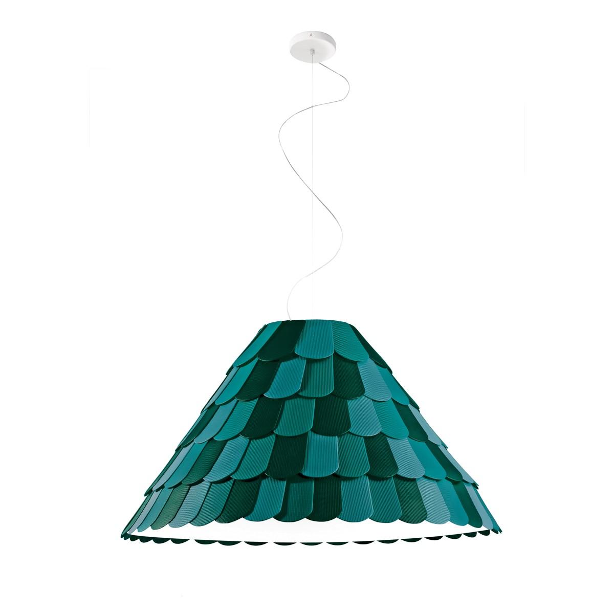 Fabbian Roofer Pendelleuchte A03, grün