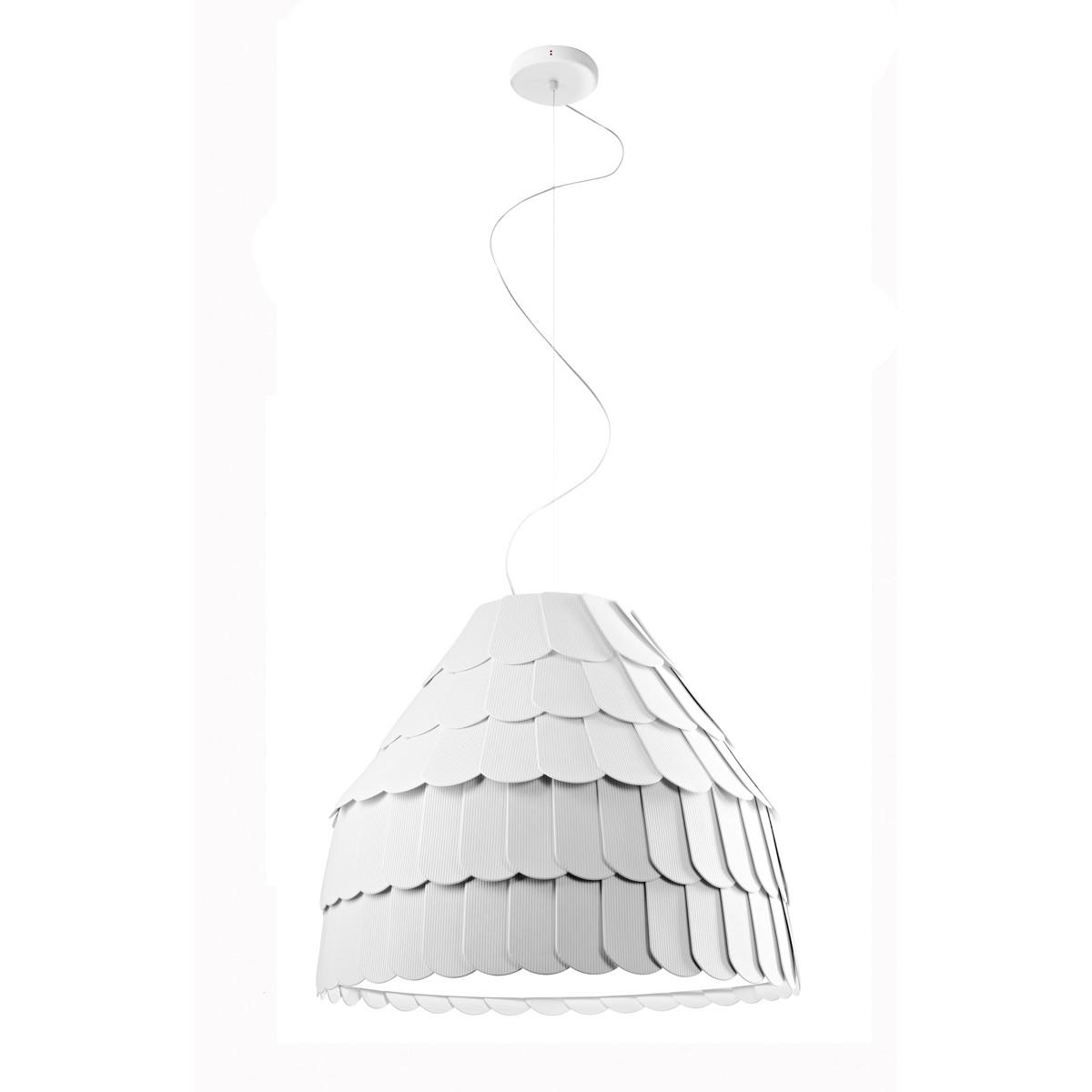 Fabbian Roofer Pendelleuchte A01, weiß