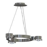 Top Light Puk Maxx Crown LED S Pendelleuchte, Chrom, Glas satiniert / Linse klar