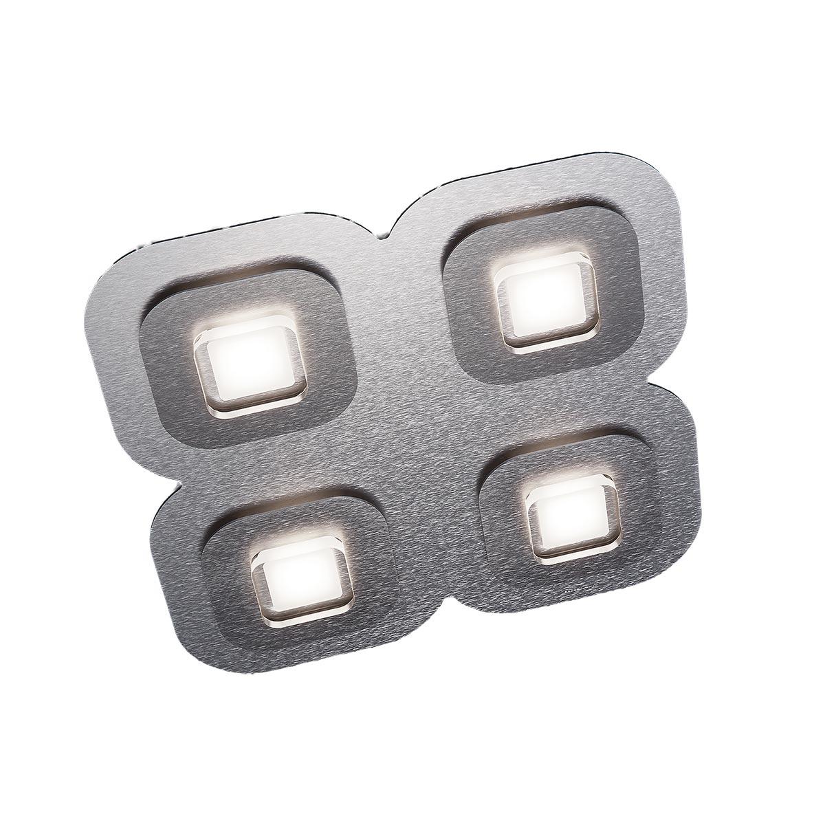 Grossmann Ap LED Deckenleuchte, 4-flg., quadratisch 75-821-072