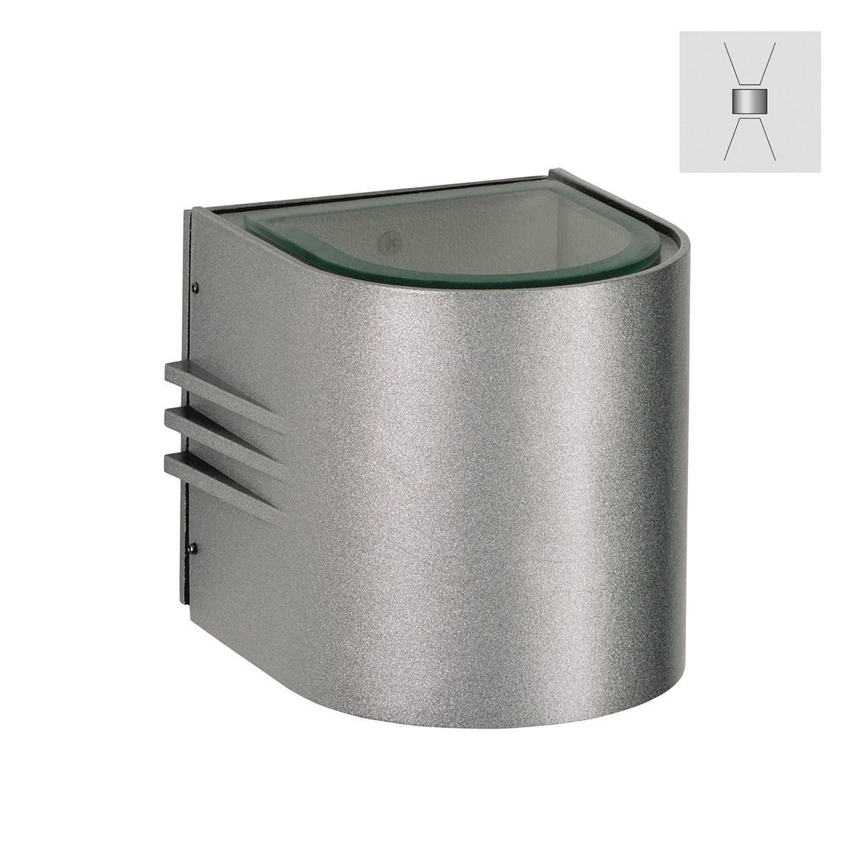Albert 2308 Wandstrahler, breit/breit, Silber