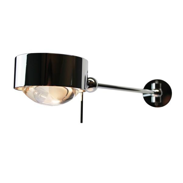 Top Light Puk Maxx Hotel LED Wandleuchte, 30 cm, Chrom, mit Einsätzen Linse klar / Glas satiniert