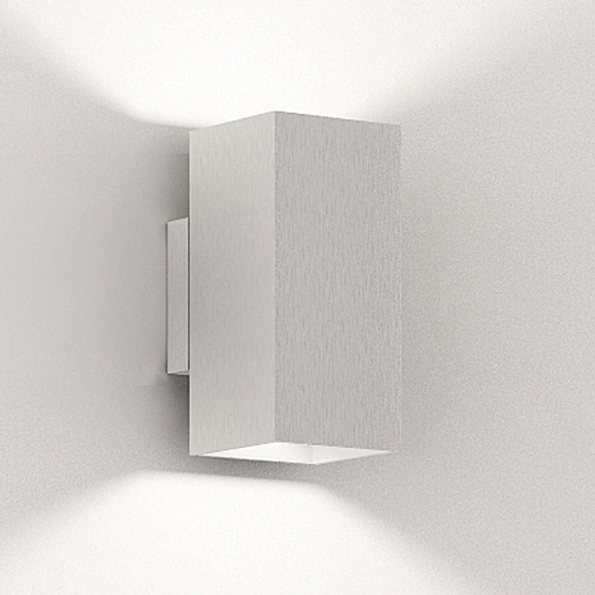 Milan Dau Doble LED Wandleuchte, Aluminium gebürstet