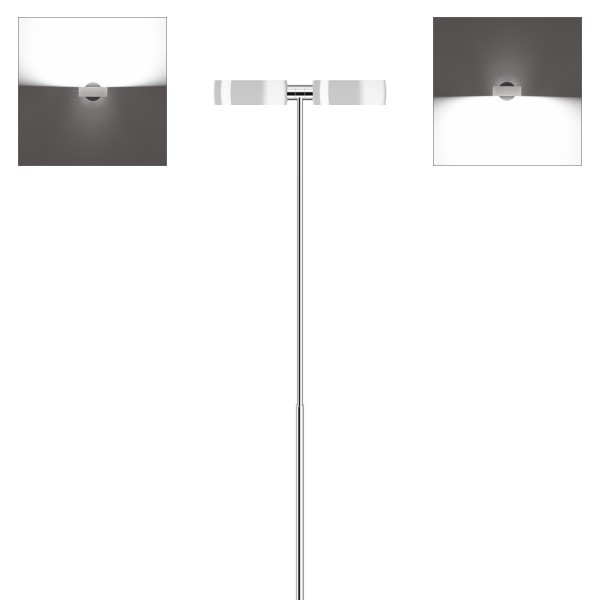 Occhio Sento B LED terra Stehleuchte, Chrom / weiß glänzend