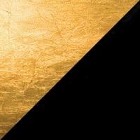 Lederam WB1 Wandleuchte, Scheibe: Gold, Stange: schwarz