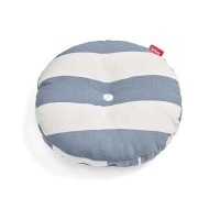 Fatboy Circle Pillow Outdoor Kissen, Stripe Ocean blue (weiß-blau)