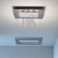 Della Luna Deckenleuchte LED, Edelstahlgeflecht