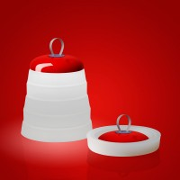 Foscarini Cri Cri LED Tavolo Akkuleuchte, rosso (rot)