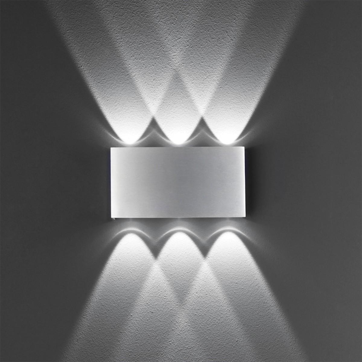 B-Leuchten Stream 40088 LED Wandleuchte, Aluminium