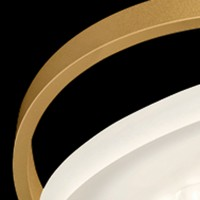 Rim R 9 Deckenleuchte, 3000 K, Gold matt eloxiert