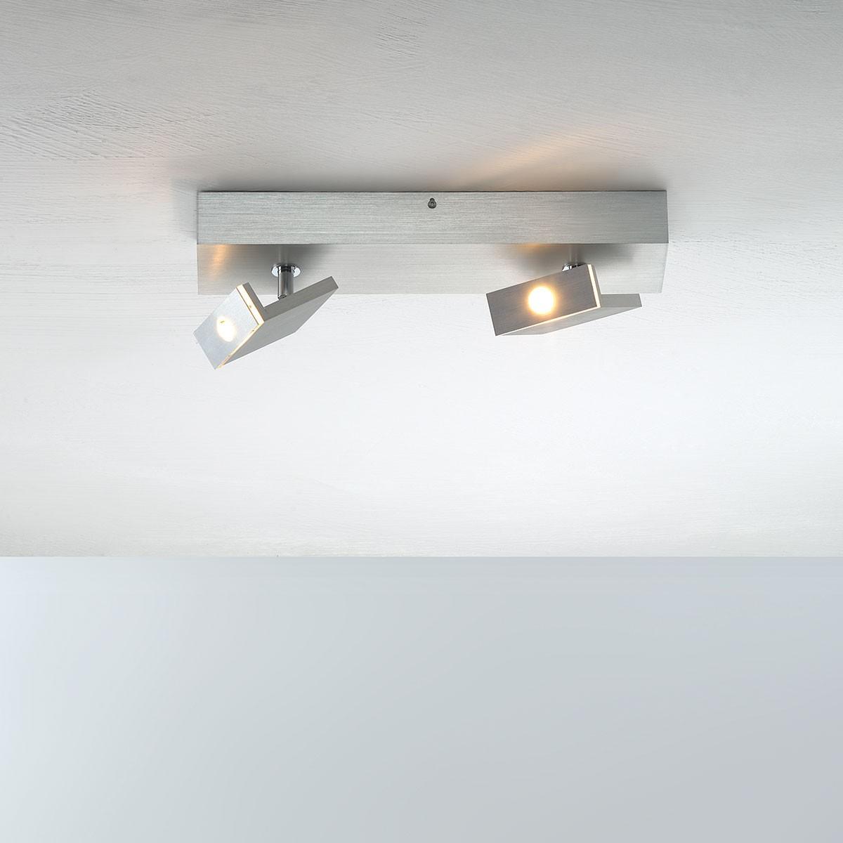 Bopp Elle LED Deckenleuchte mit Casambi Modul, 2-flg., Aluminium geschliffen