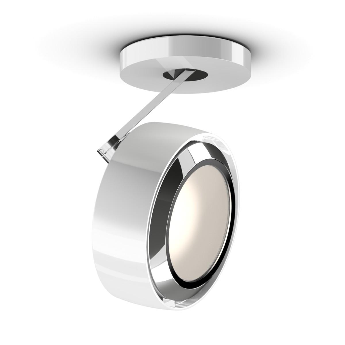 Occhio Più R alto 3d Volt C80 Deckenstrahler, 2700 K, weiß glänzend / Chrom