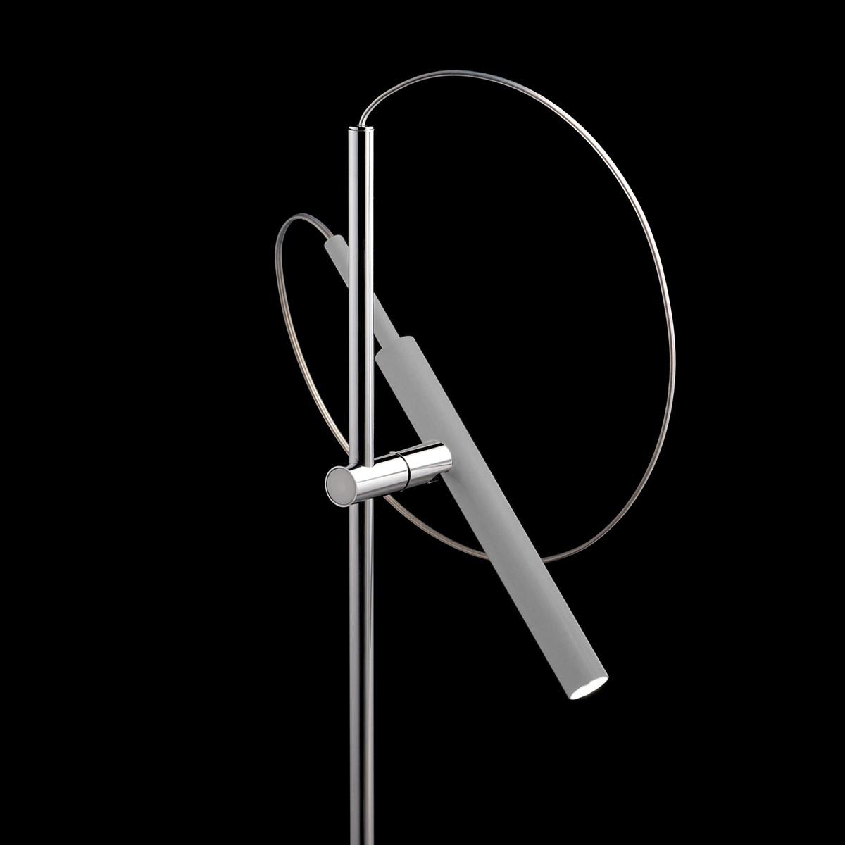 LDM Eccoled Flamingo Tablo Tischleuchte, Aluminium gebürstet, natur eloxiert