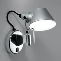Tolomeo Micro Faretto LED, mit Schalter, Aluminium