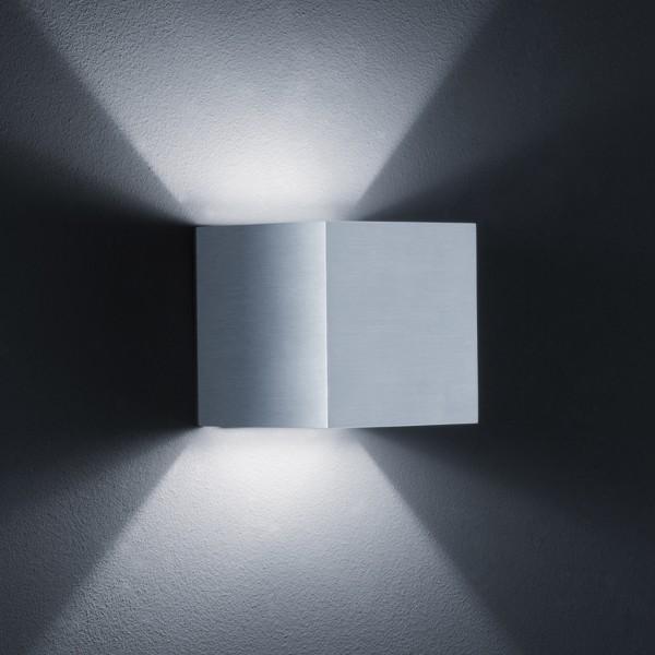 Helestra Siri Wandleuchte, Aluminium matt