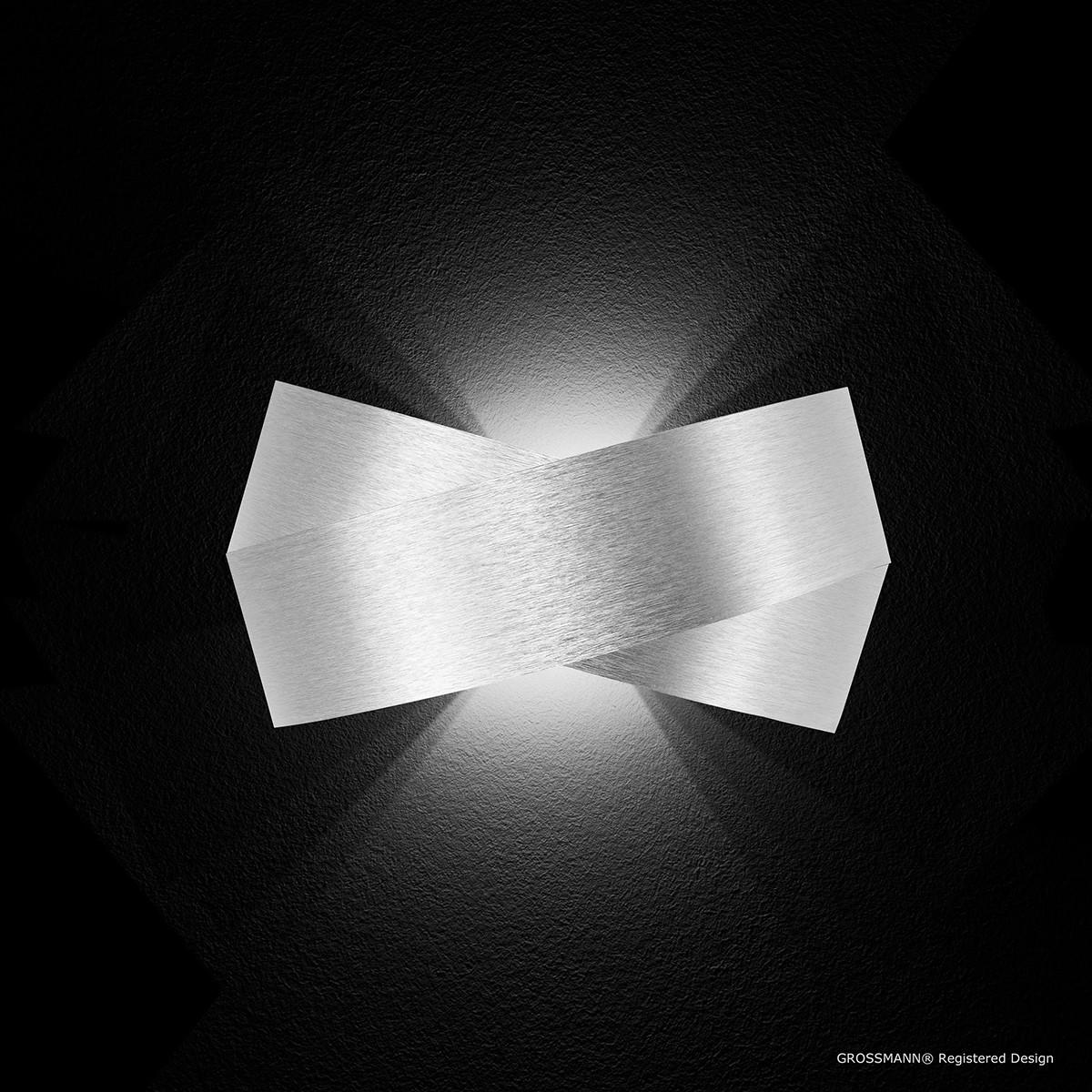 Grossmann Calimero LED Wandleuchte, Aluminium gebürstet