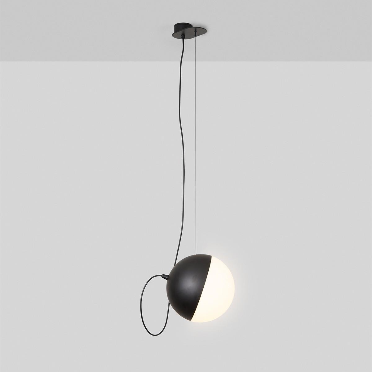 Milan Half Pendelleuchte, Ø 16 cm, 1-flg., schwarz