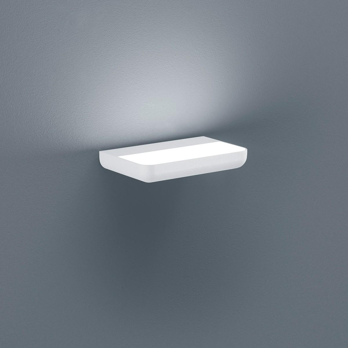 Helestra Snap LED Außenwandleuchte, weiß matt