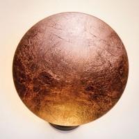 Lederam W1 Wandleuchte, Ø: 25 cm, Scheibe: Kupfer