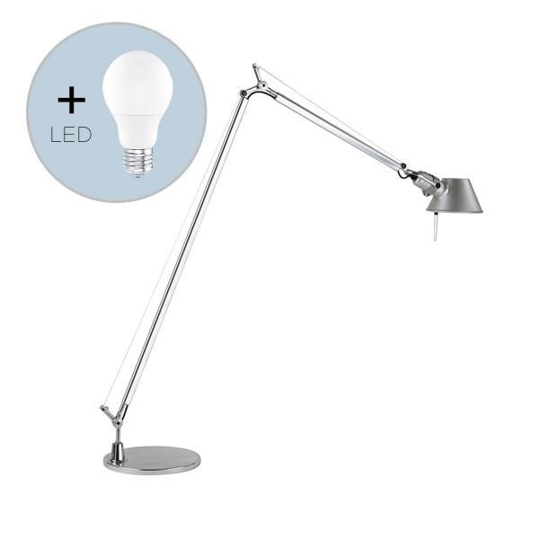 Artemide Tolomeo Lettura inkl. E27 LED-Lampe, Aluminium