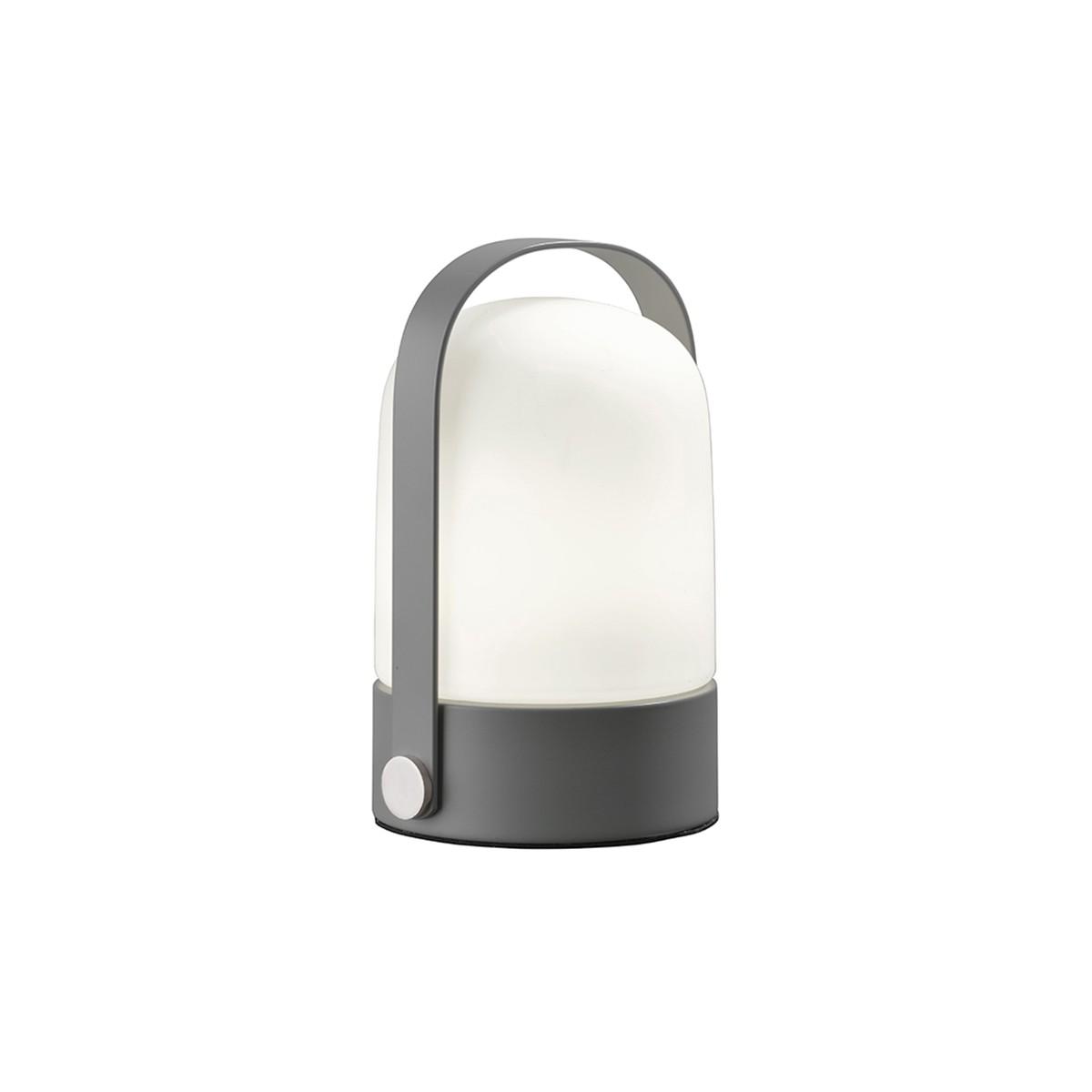 Sompex Soft Tischleuchte, grau - Glas: weiß