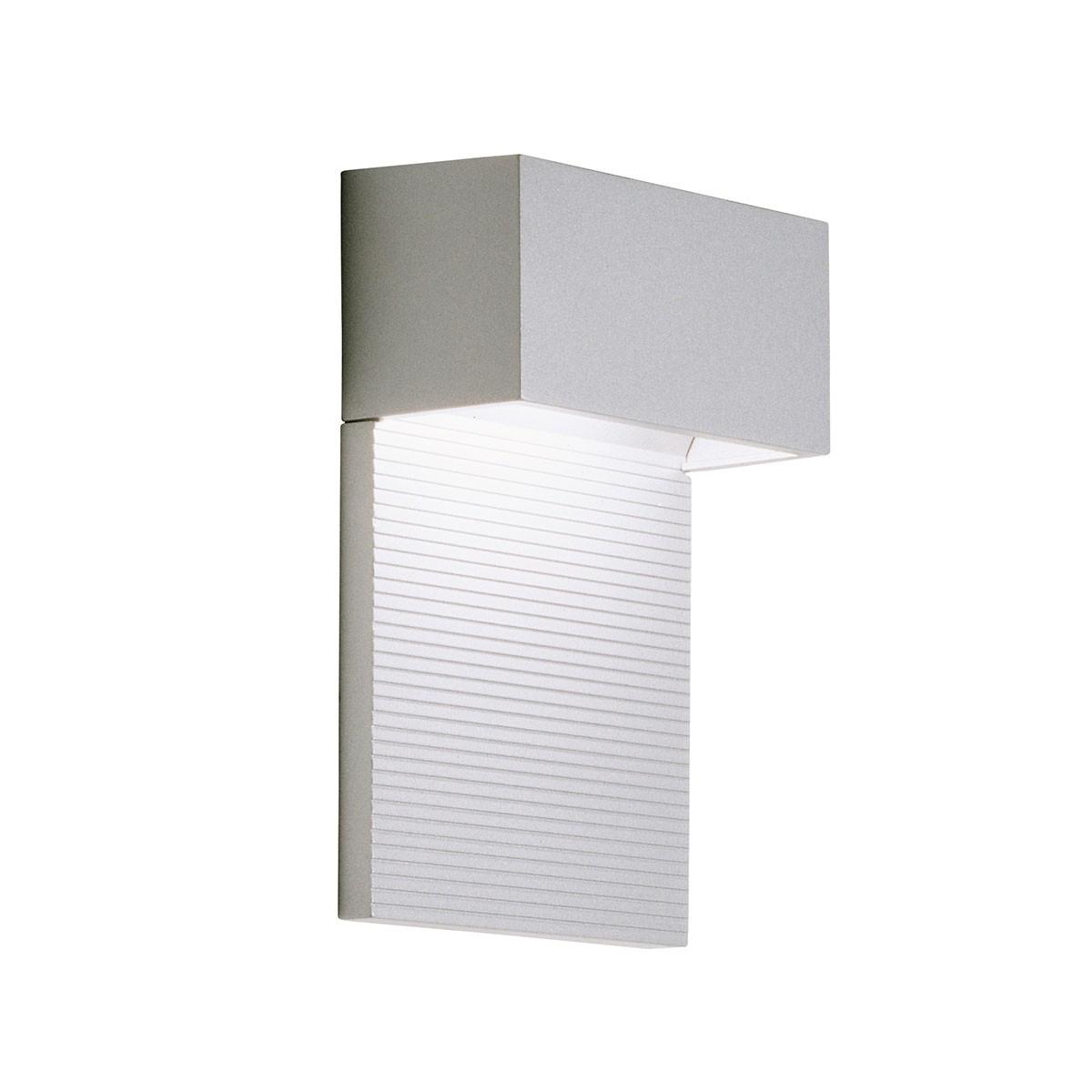 Milan Mini Wandleuchte, Höhe: 15,1 cm, grau lackiert