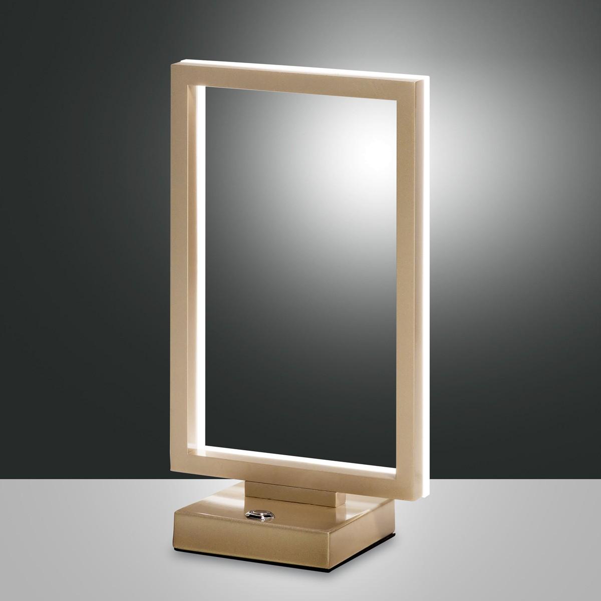 Fabas Luce Bard LED Tischleuchte, Gold edelmatt