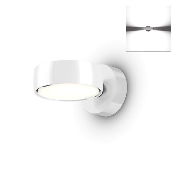 Occhio Sento A LED verticale up Wandleuchte, 2700 K, Chrom / weiß glänzend