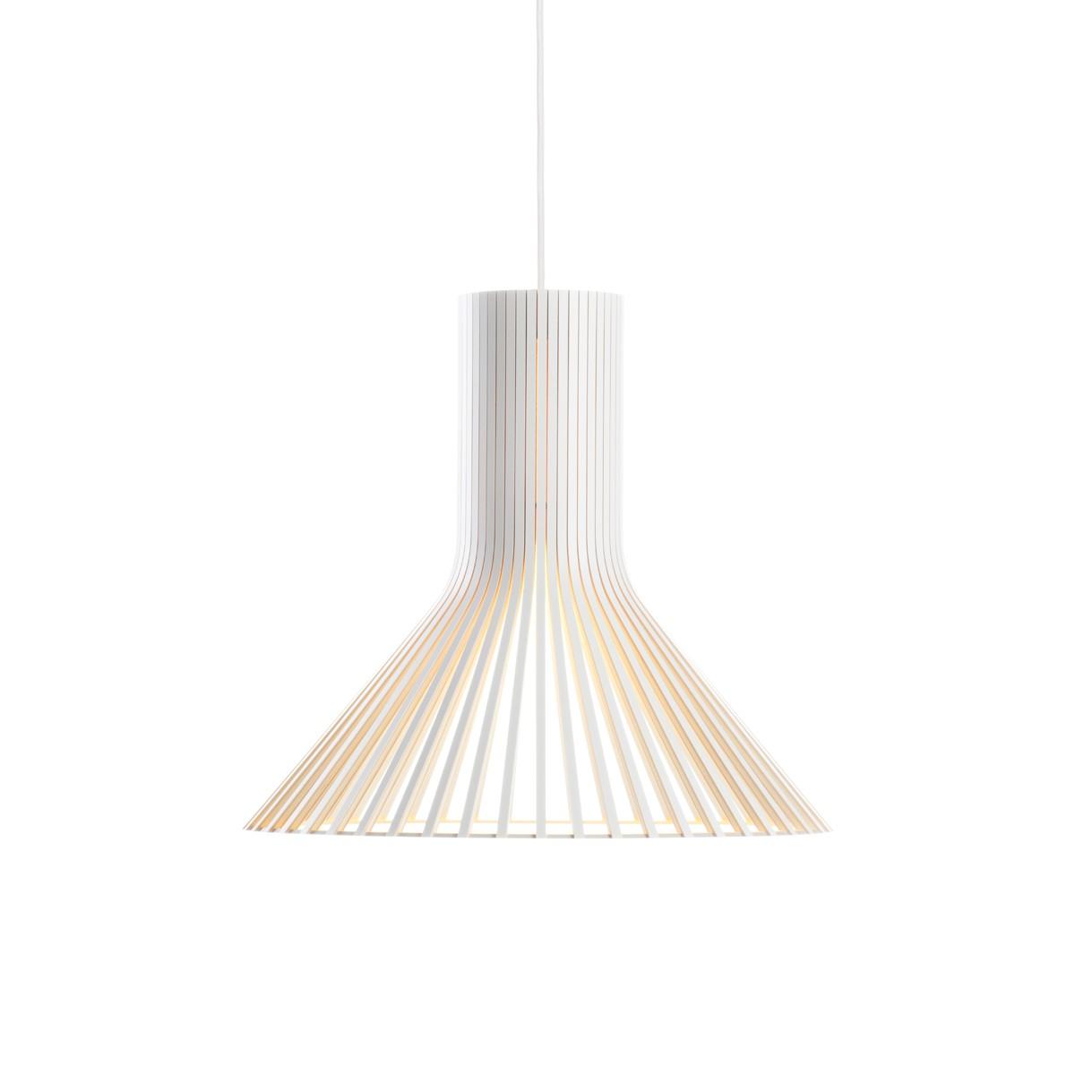 Secto Design Puncto 4203 Pendelleuchte, weiß laminiert, Kabel: weiß