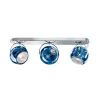 Beluga Colour Wand- / Deckenleuchte, 3-flg., blau