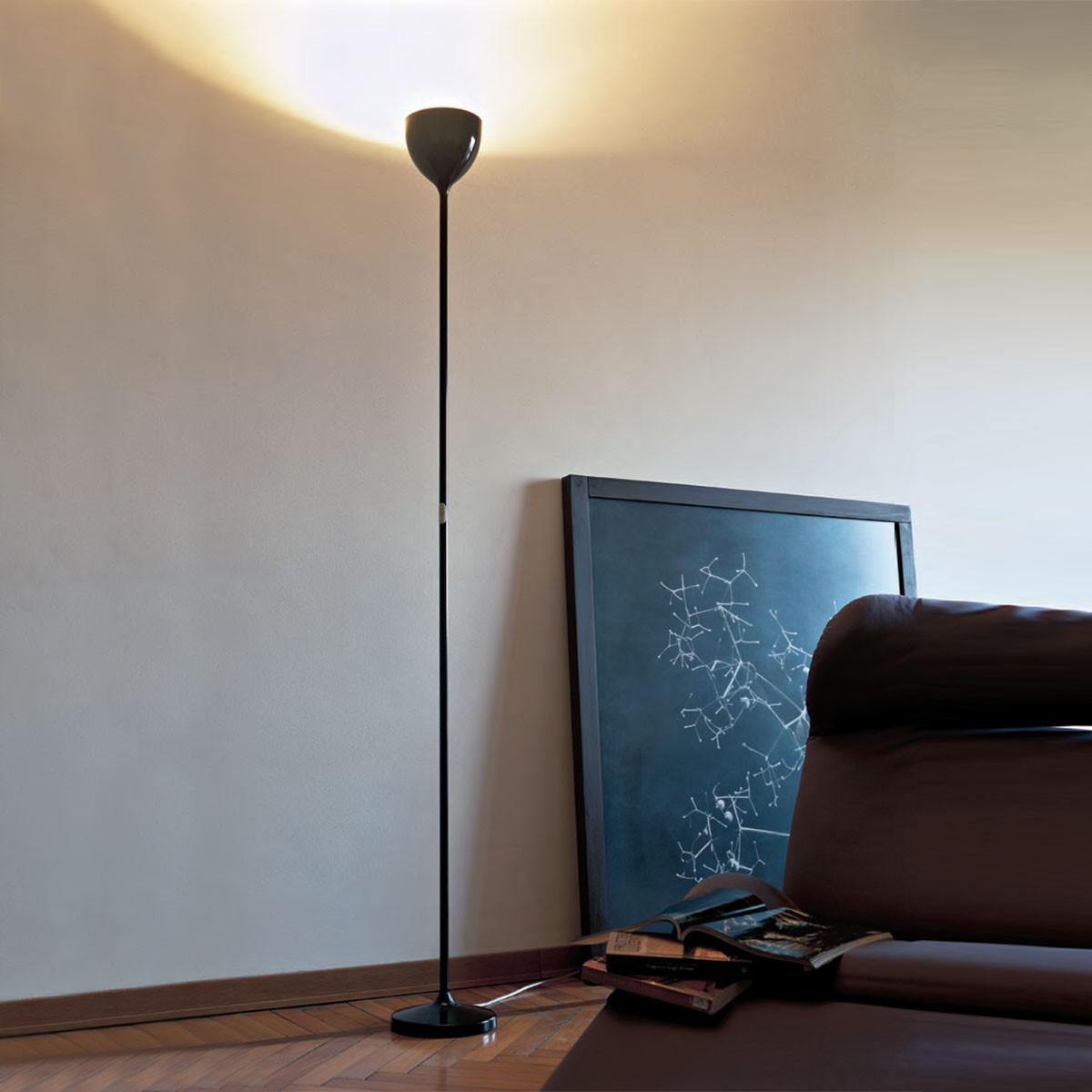 Rotaliana Drink F1 LED Stehleuchte, schwarz glänzend