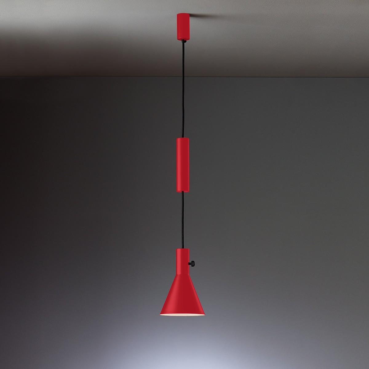 Tecnolumen Eleu Pendelleuchte, rot lackiert