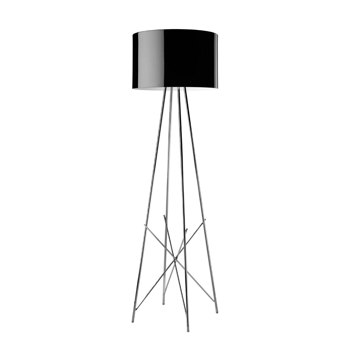 Flos Ray F Stehleuchte, F1, Höhe: 128 cm, Alu schwarz