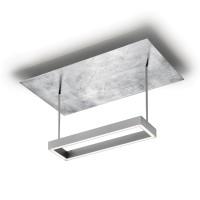91.340 Deckenleuchte, Nickel matt / Blattsilber