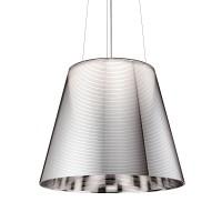 KTribe S Pendelleuchte, S3, Ø: 55 cm, Alu-beschichtet Silber