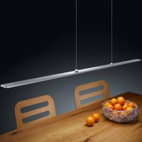Helestra Lexx LED Pendelleuchte, Nickel matt / Chrom